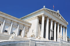 National Parliament of Austria, Vienna Royalty Free Stock Photo
