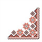 National pattern fabric texture corner Stock Image