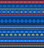 The national pattern, seamless pattern, blue, stripes, vector. Royalty Free Stock Image