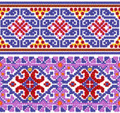 National pattern for the Ukrainian shirt Stock Images