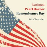 National Pearl Harbor Remembrance Day in USA royalty free stock image