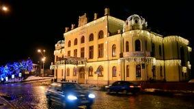 National Philharmonic of Ukraine aka Kiev Philharmonic and National Philharmonic in Kiev, Ukraine, stock footage