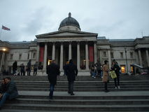 National Portrait Gallery London Trafalgar Square Royaltyfria Bilder
