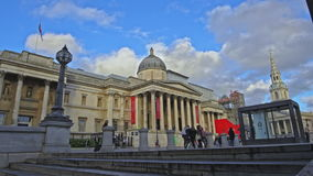 national portrait gallery in Trafalgar Square, London, England, United Kingdom stock video footage