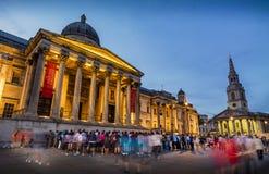 National Portrait Gallery, Trafalgar Square, Londres Imagens de Stock Royalty Free