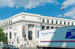 National Postal Museum Washington DC. Postal Museum with UPS truck driving in front Royalty Free Stock Images