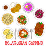 National potato dishes of belarusian cuisine icon Royalty Free Stock Photo