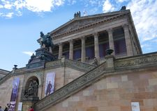 The National Potrait Gallery on the banks of the River Spree in the Centre of Berlin royalty free stock images