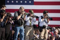 National Press aim cameras Stock Image