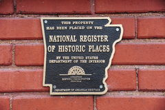 National Register of Historic Places Plaque Royalty Free Stock Photo