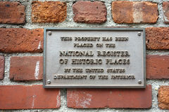 National Register of Historic Places. A plaque on a New York City building, stating that the property has been placed on the National Register of Historic Places royalty free stock images