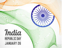 National Republic Day of India Country in Blending Lines Style V Stock Image