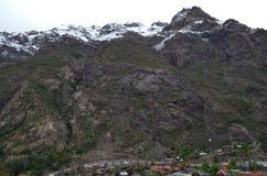 National Reserve RÃo Blanco, Mittel-Chile, ein hohes Tal der biologischen Vielfalt in Los Anden Stockfotografie