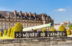 The National Residence of the Invalids and Army Museum in Paris Royalty Free Stock Images