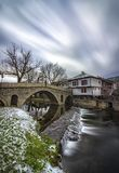 National revival Bulgarian architecture. The famous bridge in the architectural complex in Tryavna, Bulgaria Stock Image