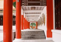 National Revolutionary Martyrs`Shrine Taiwan. By film camera Stock Image