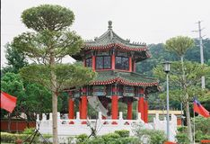 National Revolutionary Martyrs`Shrine Taiwan. By film camera Royalty Free Stock Photography