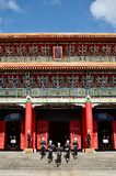 National Revolutionary Martyrs` Shrine. Taiwan honor guard in handing-over ceremony at National Revolutionary Martyrs` Shrine on January 3rd, 2018 in Taipei Royalty Free Stock Images
