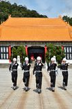 National Revolutionary Martyrs` Shrine. Taiwan honor guard in handing-over ceremony at National Revolutionary Martyrs` Shrine on January 3rd, 2018 in Taipei Stock Images
