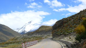 National road No.318 in China, the way to Lhasa, Tibet, the way to heaven.  Royalty Free Stock Photos