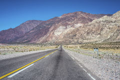 National Road 7 passing by the Department of Las Heras in Mendoz Stock Image