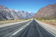 National Road 7 passing by the Department of Las Heras in Mendoz Stock Photos