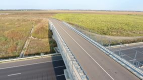National road seen from drone stock video footage