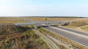 National road seen from drone stock video