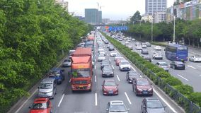 Shenzhen, China: 107 National Road car landscape Stock Photo
