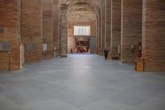National Roman Art Museum in Merida, Spain. Merida, Spain - December 20th, 2017: National Roman Art Museum in Merida, Spain designed by Rafael Moneo. Main Hall Royalty Free Stock Photos