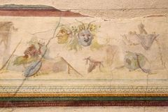 The ancient roman mosaic in National Roman Museum, Roman, Italy. The National Roman Museum Italian: Museo Nazionale Romano is a museum, with several branches in vector illustration