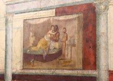 The ancient roman mosaic in National Roman Museum, Roman, Italy stock photos