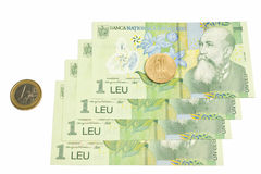 National romanian currency, leu romanesc Stock Photo
