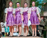 National russian dresses girls Stock Image
