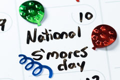 National s'mores day Royalty Free Stock Photo