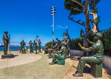 National Salute To The Military. San Diego Port District Public Art - National Sallute To The Military Royalty Free Stock Images