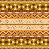 Continuous traditional motifs. National seamless pattern. Ethnic vector wallpaper stock photo