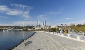 National Seaside Park in Baku Stock Image