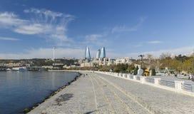 National Seaside Park in Baku stock image