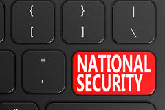 National Security on black keyboard. 3D rendering Royalty Free Stock Photos
