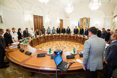 National Security and Defense Council meeting Stock Image
