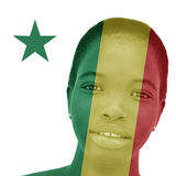 National Senegalese flag inlaid in the skin of a woman Stock Photography