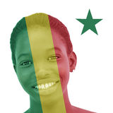 National Senegalese flag inlaid in the skin of a woman Stock Photos