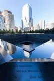 National September 11 Memorial in Lower Manhattan, New York City. New York City, USA - October 06, 2015: National September 11 Memorial in Lower Manhattan. It stock image