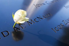 National September 11 Memorial in Lower Manhattan, New York City. New York City, USA - October 06, 2015: National September 11 Memorial in Lower Manhattan. It royalty free stock photos