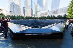 National September 11 Memorial in Lower Manhattan, New York City. New York City, USA - October 06, 2015: National September 11 Memorial in Lower Manhattan. It stock photo