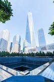 National September 11 Memorial in Lower Manhattan, New York City. New York City, USA - October 06, 2015: National September 11 Memorial in Lower Manhattan. It stock images