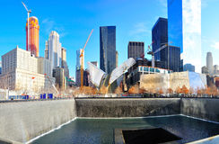 National September 11 Memorial Museum. The pool and parts of the original world trade center at the National September 11 Memorial Royalty Free Stock Photos