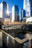 National September 11 Memorial, New York. The National September 11 Memorial at the World Trade Center in Manhattan where the Twin Towers stood before 9/11 Royalty Free Stock Photo