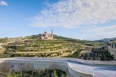 Ta' Pinu church near Gharb in Gozo, Malta. The National Shrine of the Blessed Virgin of Ta' Pinu, parish church and minor basilica located near Gharb on the Stock Photo